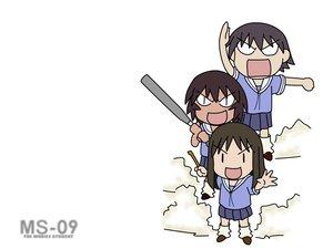Rating: Safe Score: 6 Tags: azumanga_daioh kagura kasuga_ayumu mobile_suit_gundam takino_tomo User: Oyashiro-sama