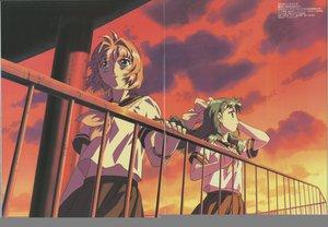 Rating: Safe Score: 1 Tags: megami miyafuji_miina onegai_twins onodera_karen school_uniform User: Oyashiro-sama