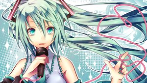Rating: Safe Score: 78 Tags: close hatsune_miku microphone shiomidu vocaloid User: MissBMoon