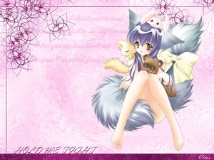 Rating: Questionable Score: 21 Tags: animal animal_ears blush bow bunny foxgirl iori_(tail_tale) koma_(tail_tale) long_hair min multiple_tails purple_hair soro tail tail_tale watermark yellow_eyes User: Oyashiro-sama