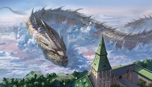 Rating: Safe Score: 76 Tags: building city clouds dragon miso_katsu original scenic sky User: RyuZU