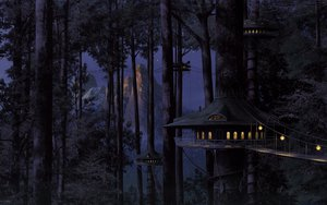 Rating: Safe Score: 149 Tags: building forest jpeg_artifacts landscape night scenic tree User: FoliFF