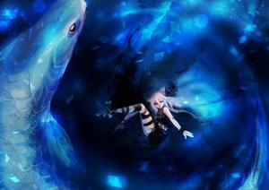 Rating: Safe Score: 89 Tags: animal deep-sea_girl_(vocaloid) fish ia reiami underwater vocaloid User: FormX