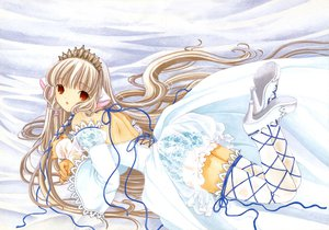 Rating: Safe Score: 37 Tags: chii chobits clamp ribbons scan thighhighs User: Xtea