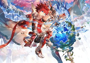 Rating: Safe Score: 35 Tags: all_male aqua_eyes armor cape elsword elsword_(character) gloves magic male planet red_hair scorpion5050 short_hair sword water waterfall weapon User: BattlequeenYume