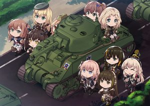 Rating: Safe Score: 25 Tags: alisa_(girls_und_panzer) anthropomorphism aqua_eyes blonde_hair boots brown_eyes brown_hair chibi crossover eyepatch girls_frontline girls_und_panzer gloves gray_eyes group hat headphones kay_(girls_und_panzer) long_hair m14_(girls_frontline) m16a1_(girls_frontline) m1_garand_(girls_frontline) m2hb_(girls_frontline) m4a1_(girls_frontline) m4_sopmod_ii_(girls_frontline) persocon93 pink_hair ponytail red_eyes ribbons ro635_(girls_frontline) robot short_hair springfield_(girls_frontline) st_ar-15_(girls_frontline) stockings twintails uniform yellow_eyes User: Nepcoheart