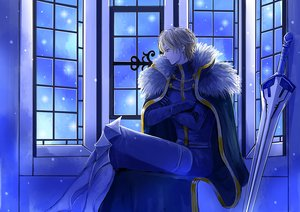 Rating: Safe Score: 6 Tags: all_male blonde_hair cape chain fate/grand_order fate_(series) gawain gloves male sei_copa_pedaru short_hair User: RyuZU
