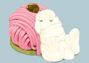 Rating: Safe Score: 6 Tags: animal blue cake food lilac_(pfeasy) nobody original rabbit User: otaku_emmy