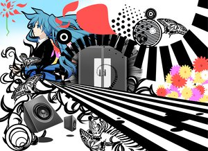 Rating: Safe Score: 32 Tags: hatsune_miku saihate_(vocaloid) vocaloid User: w7382001