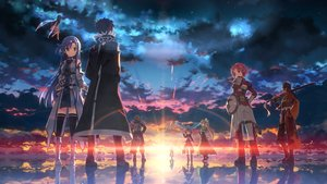 Rating: Safe Score: 454 Tags: andrew_gilbert_mills animal ayano_keiko black_hair blue_eyes brown_hair cape clouds fairy group kirigaya_kazuto leafa lisbeth long_hair male pina pointed_ears ponytail red_hair shinon_(sao) short_hair sky sunset sword sword_art_online tsuboi_ryoutarou water weapon wings yui_(sword_art_online) yuuki_asuna yuuki_tatsuya User: Flandre93