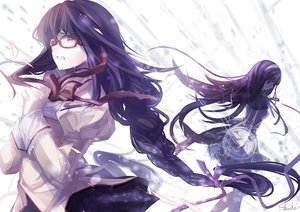 Rating: Safe Score: 68 Tags: akemi_homura braids glasses long_hair mahou_shoujo_madoka_magica skade tears User: luckyluna
