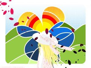 Rating: Safe Score: 9 Tags: dress flowers hachimitsu_to_clover hagu hanamoto_hagumi hat petals User: Oyashiro-sama
