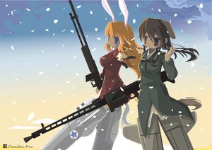 Rating: Safe Score: 42 Tags: animal_ears charlotte_e_yeager gertrud_barkhorn strike_witches tail User: w7382001