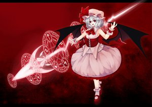 Rating: Safe Score: 52 Tags: blue_eyes gray_hair red_eyes remilia_scarlet touhou utakata_(0824) wings User: SciFi