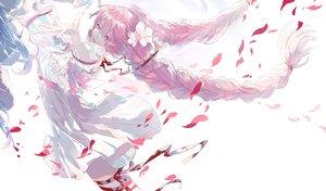 Rating: Safe Score: 69 Tags: braids hatsune_miku oriichi petals ribbons sakura_miku vocaloid yuki_miku User: FormX