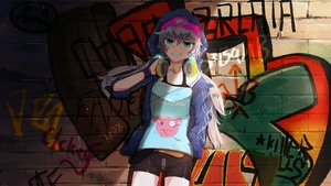 Rating: Safe Score: 36 Tags: gray_hair green_eyes hat headphones hoodie long_hair shorts tagme_(artist) twintails vocaloid voiceroid yuzuki_yukari User: luckyluna