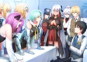 Rating: Safe Score: 31 Tags: aqua_hair armor billy_the_kid_(fate/grand_order) black_hair blonde_hair book breasts brynhildr_(fate/grand_order) dress elbow_gloves fate/grand_order fate_(series) fujimaru_ritsuka_(male) garter ginhaha gloves group hat headdress headphones helena_blavatsky_(fate) japanese_clothes jeanne_d'arc_(fate) long_hair maid male nobukatsu_oda_(fate) parody pink_eyes ponytail purple_eyes purple_hair red_eyes saber saber_alter sakura_saber sakura_saber_alter short_hair skirt thighhighs tie tomoe_gozen white_hair yellow_eyes User: RyuZU