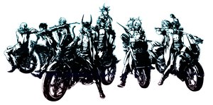 Rating: Safe Score: 30 Tags: bartz_klauser cecil_harvey cloud_strife dissidia_final_fantasy final_fantasy firion monochrome motorcycle onion_knight squall_leonhart terra_branford tidus warrior_of_light white zidane_tribal User: haru3173
