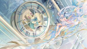 Rating: Safe Score: 69 Tags: atdan barefoot blue_eyes blue_hair breasts butterfly cangqiong cleavage dress long_hair synthesizer_v wristwear User: BattlequeenYume