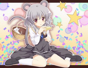 Rating: Safe Score: 92 Tags: animal animal_ears dress food francis_(ohne) mouse mousegirl nazrin panties stars tail touhou underwear User: opai