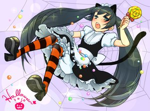 Rating: Safe Score: 14 Tags: animal_ears black_hair catgirl dress halloween tagme tail thighhighs twintails User: HawthorneKitty