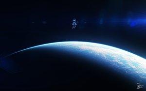 Rating: Safe Score: 16 Tags: dark original planet short_hair signed skybase space User: RyuZU