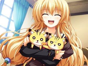 Rating: Safe Score: 102 Tags: akatsuki_no_goei blonde_hair game_cg kurayashiki_tae long_hair school_uniform syangrila tomose_shunsaku User: 秀悟