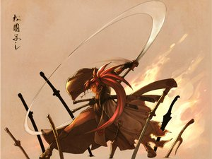 Rating: Safe Score: 26 Tags: baiken cleavage guilty_gear katana red_hair sword weapon User: Elysium
