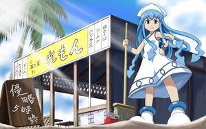 Rating: Safe Score: 24 Tags: blue_eyes blue_hair dress ikamusume loli shinryaku!_ikamusume zqhzx User: gnarf1975