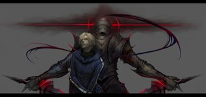 Rating: Safe Score: 120 Tags: all_male ao666 armor fate_(series) fate/stay_night fate/zero lancelot_(fate) male matou_kariya short_hair sword weapon User: PAIIS