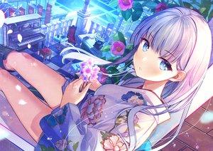Rating: Safe Score: 109 Tags: aliasing atori blue_eyes blush flowers instrument japanese_clothes long_hair original piano User: BattlequeenYume
