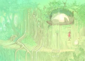 Rating: Safe Score: 37 Tags: ghibli green kusakabe_mei mugon tonari_no_totoro totoro tree water waterfall User: PAIIS