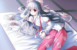 Rating: Safe Score: 22 Tags: fujiwara_no_mokou gray_hair long_hair red_eyes risutaru tagme touhou User: RyuZU