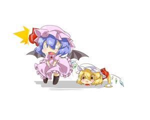 Rating: Safe Score: 50 Tags: 2girls blonde_hair blood blue_hair chibi flandre_scarlet haipa_okara hat nosebleed remilia_scarlet short_hair skirt touhou upskirt vampire wings yukkuri_shiteitte_ne User: PAIIS