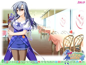 Rating: Safe Score: 36 Tags: brown_eyes calendar gray_hair mashiba_sayuri murakami_suigun pantyhose pia_carrot pia_carrot_4 waitress User: oranganeh