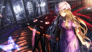 Rating: Safe Score: 241 Tags: blonde_hair bow building butterfly city dress hat long_hair magic ryosios stairs touhou umbrella yakumo_yukari yellow_eyes User: RyuZU