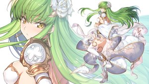 Rating: Safe Score: 59 Tags: armor breasts cc code_geass creayus dress erect_nipples green_hair long_hair skirt_lift thighhighs yellow_eyes zoom_layer User: RyuZU
