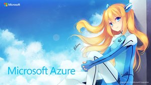 Rating: Safe Score: 147 Tags: aqua_eyes azure_(microsoft) blonde_hair bodysuit clouds logo long_hair microsoft skintight sky tagme tagme_(artist) User: feiyuelisky