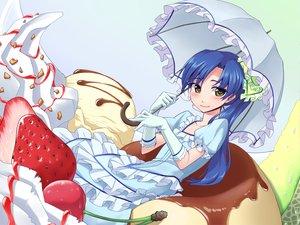 Rating: Safe Score: 19 Tags: bow dress food gloves idolmaster kisaragi_chihaya umbrella User: HawthorneKitty