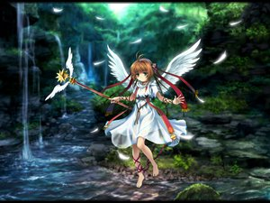Rating: Safe Score: 24 Tags: angel brown_hair card_captor_sakura dress green_eyes kinomoto_sakura moonknives short_hair staff wings User: 秀悟