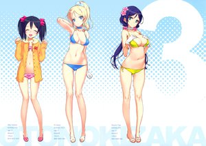 Rating: Questionable Score: 203 Tags: 3girls ayase_eri bikini cleavage love_live!_school_idol_project oyari_ashito swimsuit toujou_nozomi yazawa_nico User: Wiresetc