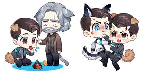 Rating: Safe Score: 3 Tags: all_male animal_ears aqua_eyes blush brown_eyes brown_hair catboy cat_smile chibi connor_(detroit:_become_human) detroit:_become_human gray_hair hank_anderson ice_cream male robot short_hair suit tagme_(artist) tail tie waifu2x white User: otaku_emmy