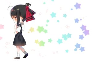 Rating: Safe Score: 38 Tags: black_hair blush chibi dress kaguya-sama_wa_kokurasetai_~tensai-tachi_no_renai_zunousen~ red_eyes school_uniform shinomiya_kaguya short_hair socks stars urim_(paintur) white User: otaku_emmy
