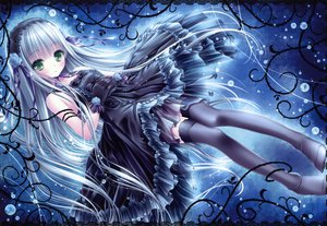 Rating: Safe Score: 242 Tags: blue_hair bubbles dress gloves gothic goth-loli green_eyes headdress lolita_fashion long_hair ribbons scan thighhighs tinkerbell tinkle User: opai