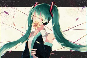 Rating: Safe Score: 19 Tags: aliasing aqua_hair hatsune_miku long_hair tagme_(artist) twintails vocaloid User: luckyluna