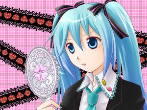 Rating: Safe Score: 7 Tags: hatsune_miku parody shugo_chara twintails vocaloid yutu User: HawthorneKitty