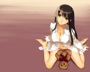 Rating: Questionable Score: 178 Tags: barefoot breasts cleavage naked_shirt panties taka_tony underwear User: paul3234