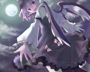 Rating: Safe Score: 42 Tags: animal_ears hat moon myaaco mystia_lorelei night pink_hair short_hair touhou wings User: PAIIS