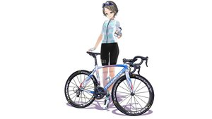 Rating: Safe Score: 25 Tags: bicycle bike_shorts brown_hair drink gloves hitomi_kazuya original short_hair shorts skintight sunglasses white yellow_eyes User: gnarf1975
