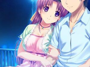 Rating: Safe Score: 75 Tags: aoi_matsuri game_cg koutaro long_hair night pink_hair purple_eyes tropical_kiss twinkle User: Wiresetc